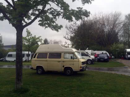 Campingplatzidyll im Sauwetter