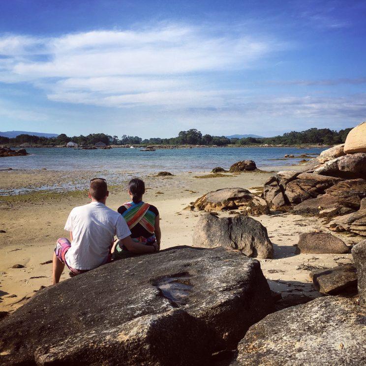 Isla de Arosa, Blick auf's Wasser